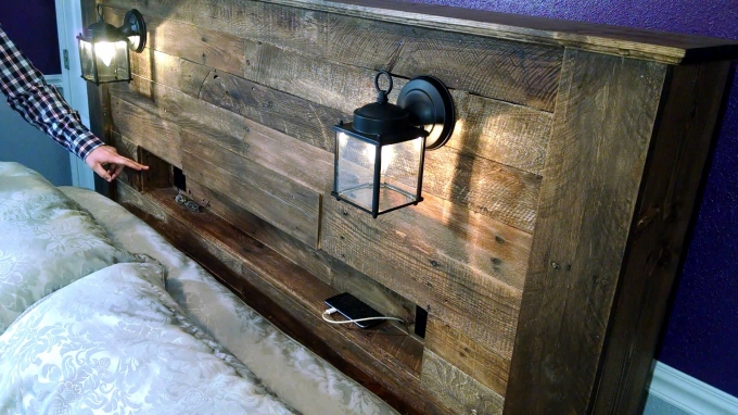 Pallet Bed Headboard With Shelves Ideas Recycled