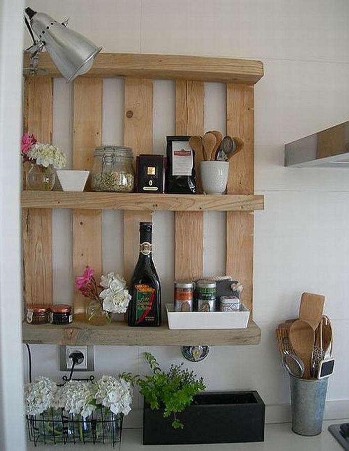 Pallet Kitchen Shelving