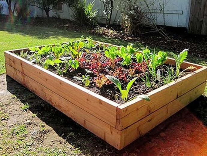 Pallet Upcycled Vegetable Garden