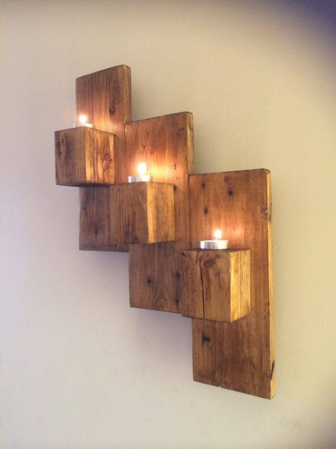 Wall Decor With Candle : Pallet wall art ideas recycled upcycled
