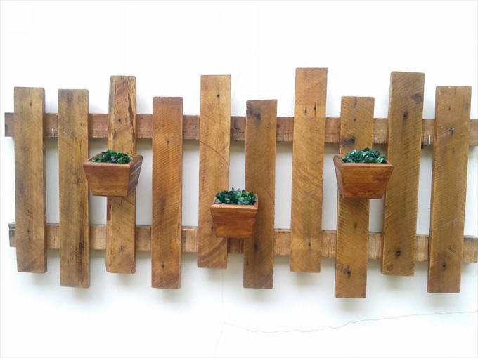Pallet wall art ideas pallet ideas recycled upcycled Ideas for wall hanging planters