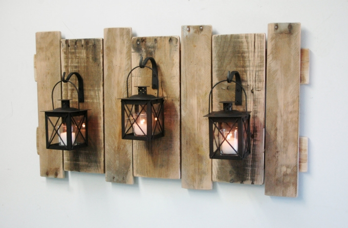 Pallet wall art ideas pallet ideas recycled upcycled for Wooden art home decorations