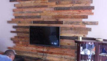 Pallet Wall Cladding for LCD