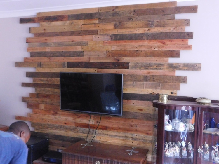 Pallet Wall Cladding For Lcd Pallet Ideas Recycled