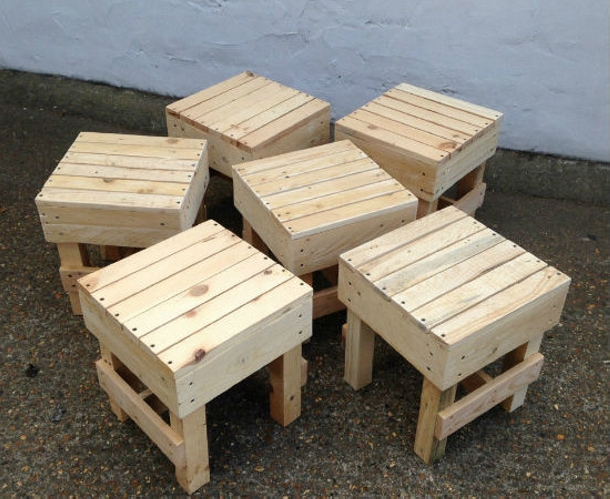 Ideas for recycled pallet stools pallet ideas recycled for Stools made from pallets