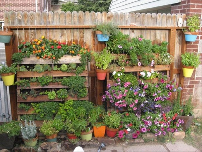 Recycled Pallet Vegetable Garden