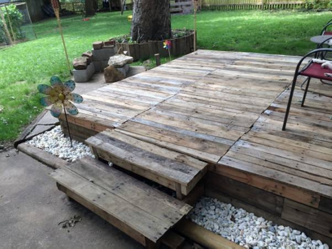 Pallet Garden Deck Floor Ideas Ideas Recycled