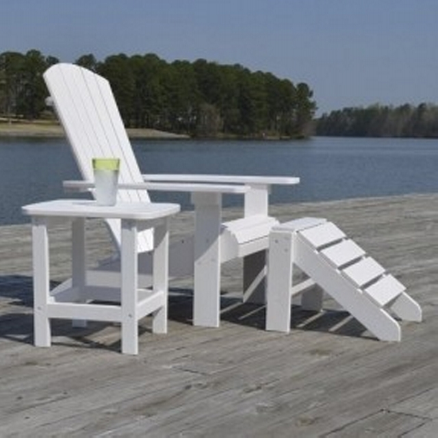 Repurposed Pallet Footstool Chair