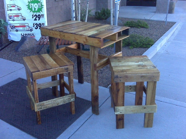 Ideas For Recycled Pallet Stools Pallet Ideas
