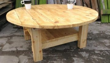 Ideas for Pallet Round Tables