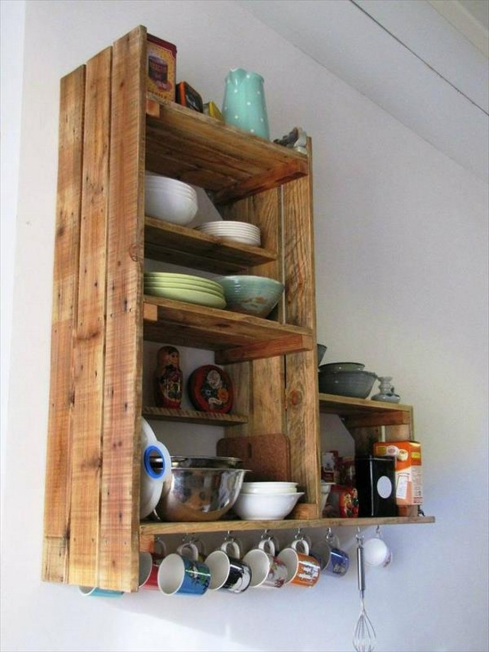 Pallet Shelf Ideas For Kitchen Pallet Ideas Recycled