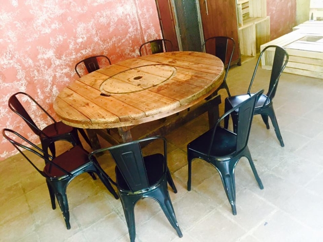 cable reel pallet round table