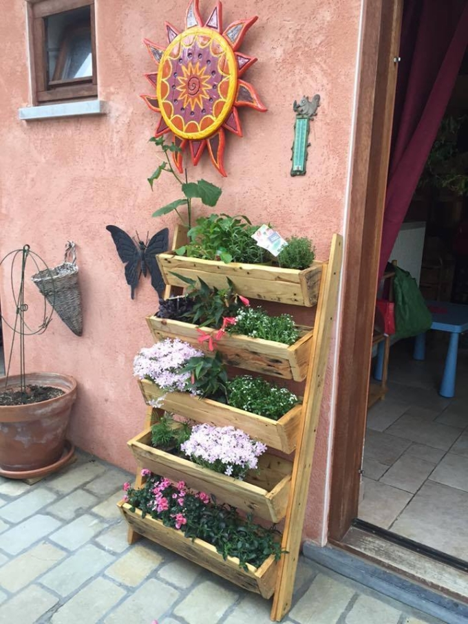 Repurposed Pallet Planter   Pallet Ideas