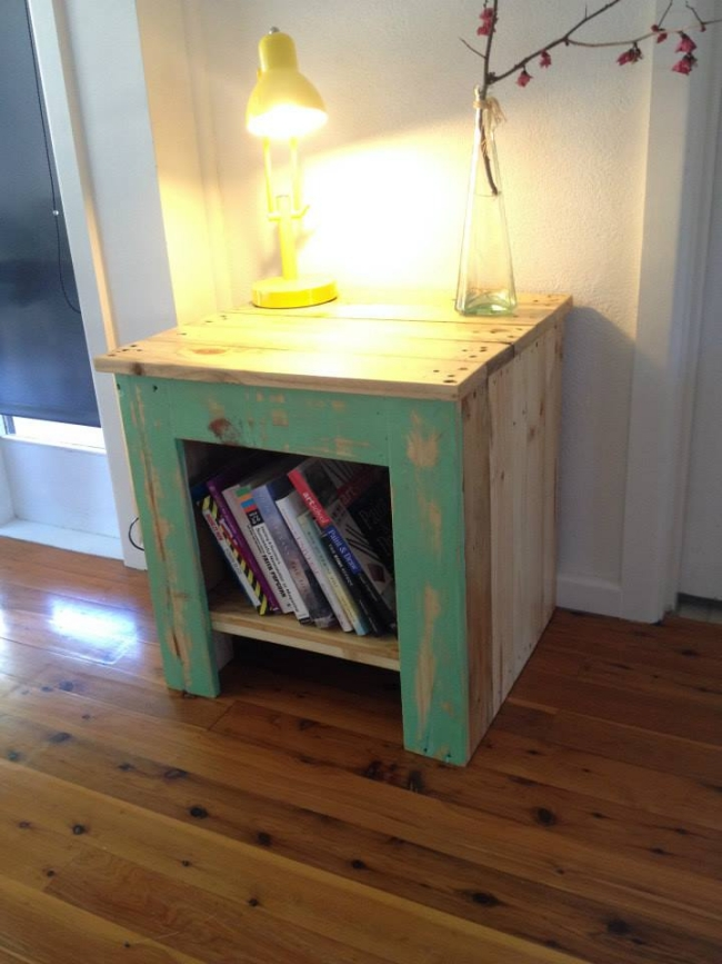 pallet bedside table ideas