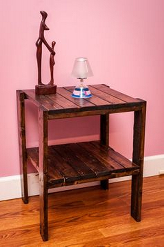 pallet bedside table plan