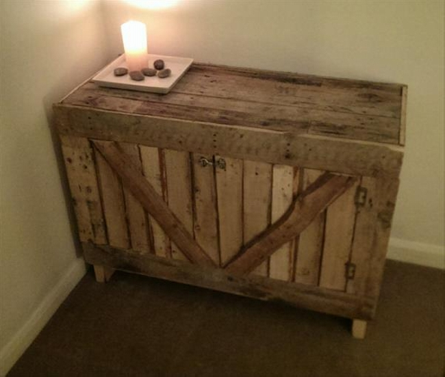 pallet bedside table plans