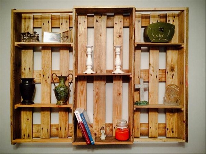 pallet kitchen shelf plans