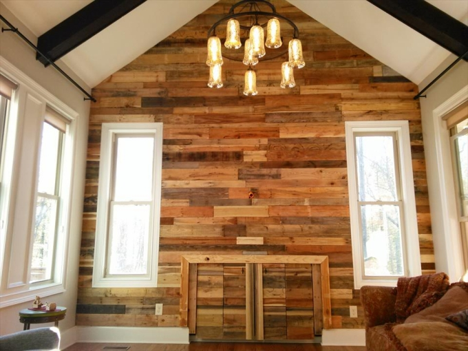 Pallet Wall Cladding Pallet Ideas Recycled Upcycled Pallets Furniture Projects