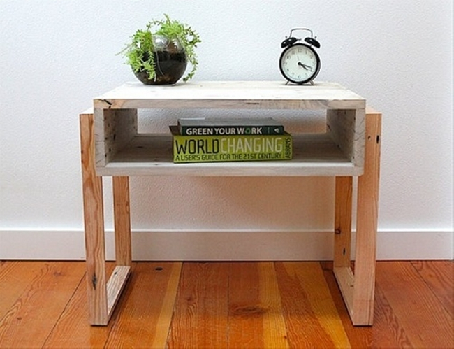 reclaimed pallet bedside table
