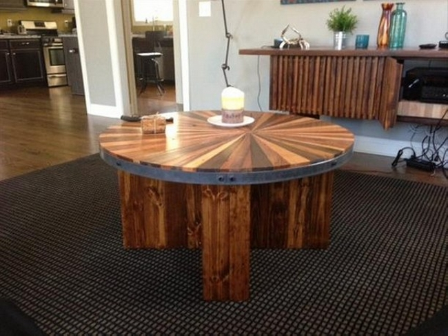 Ideas For Pallet Round Tables Pallet Ideas
