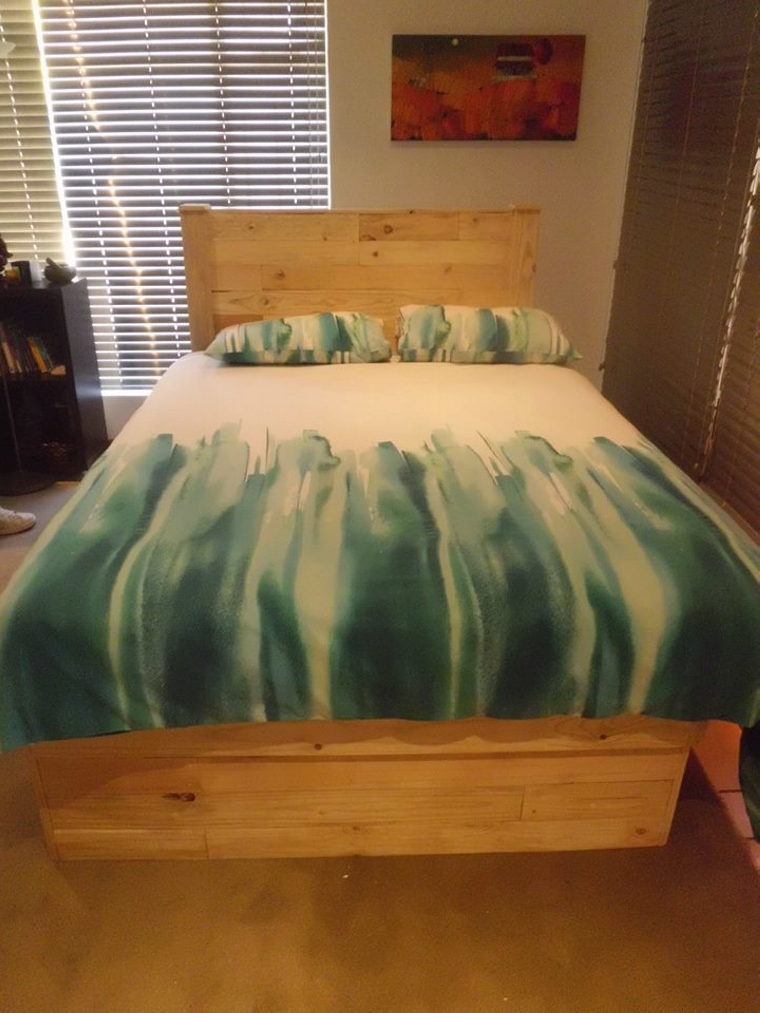 Big Pallet Bed With Headboard Pallet Ideas