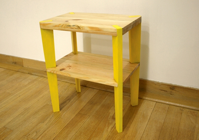 recycled wood pallet bedside table