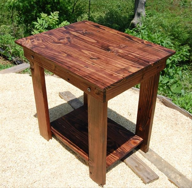 rustic pallet bedside table