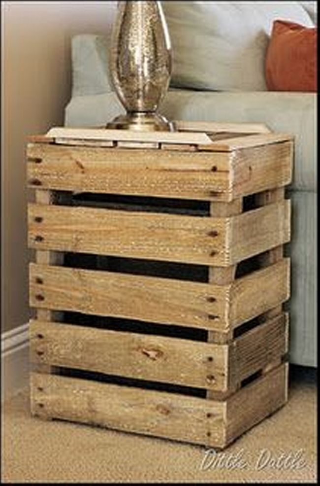 simple pallet bedside table