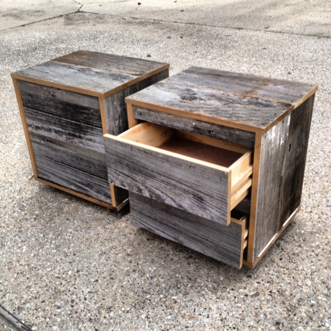 upcycled pallet bedside tables