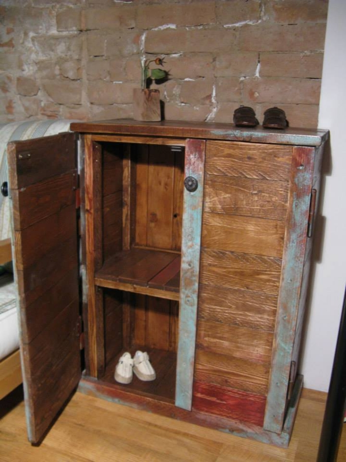 upcycled pallet storage cabinet