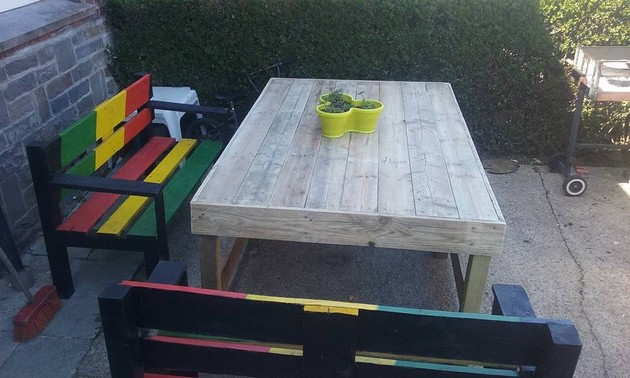 Pallet Lounge Benches
