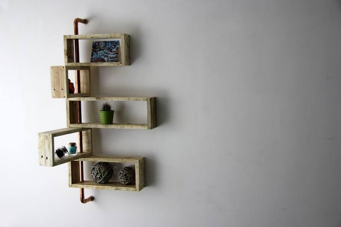 Recycled Pallet Moving Shelf Pallet Ideas