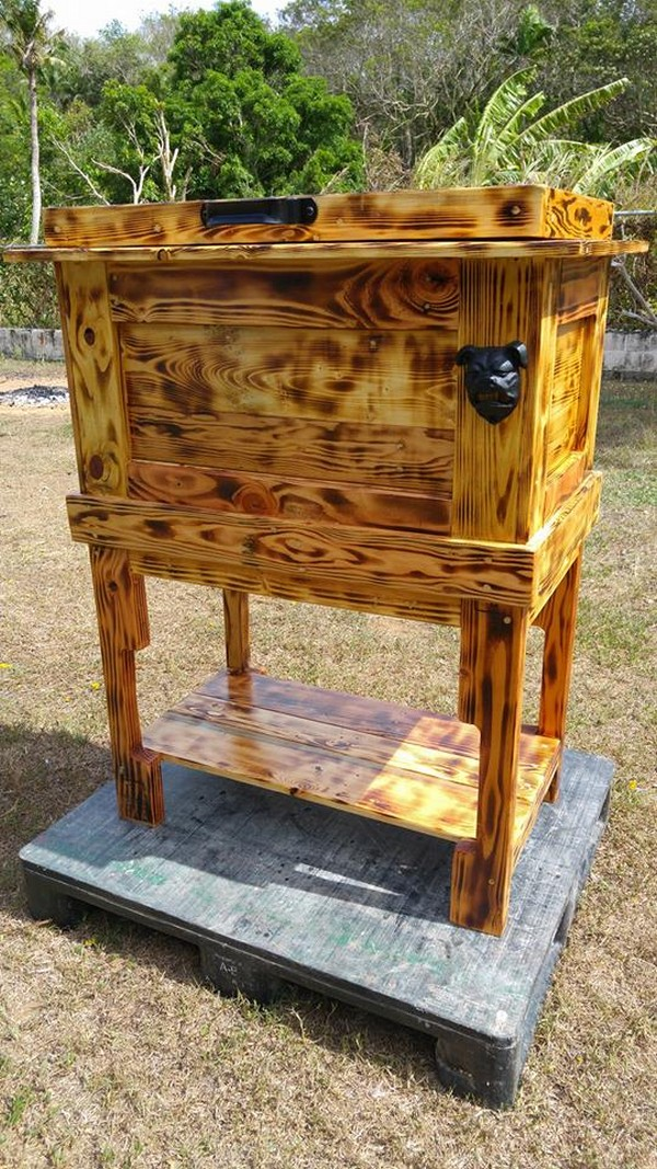 Recycled Wooden Pallet Cooler | Pallet Ideas