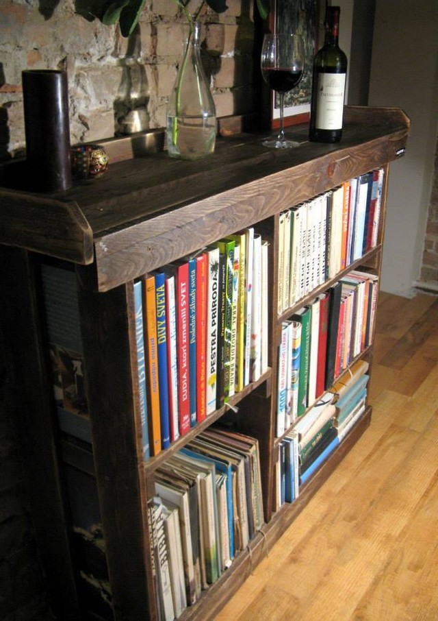 Pallet Side Table Cum Bookshelf Pallet Ideas