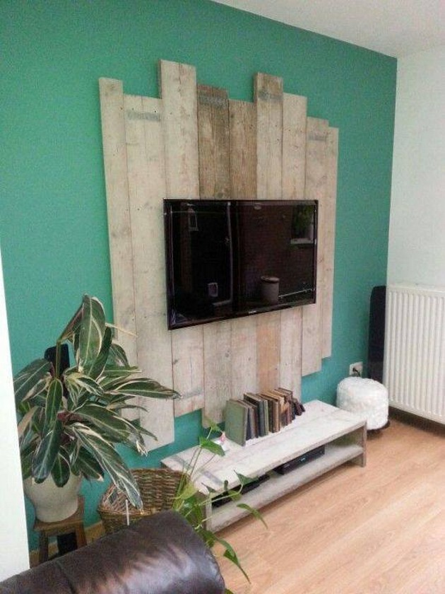 pallet wall art for tv