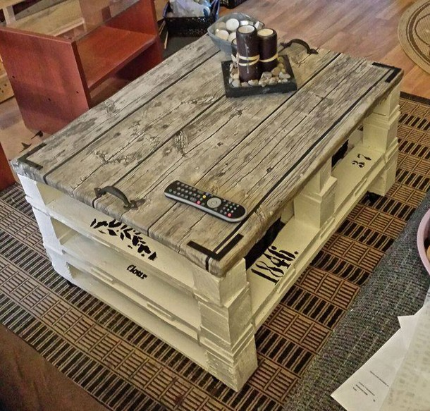 Wooden Coffee Table Designs Aiden Coffee Table Wooden: Upcycled Pallet Plans