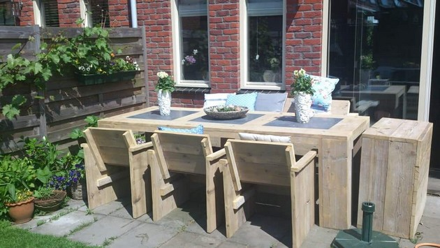 pallet wood patio furniture