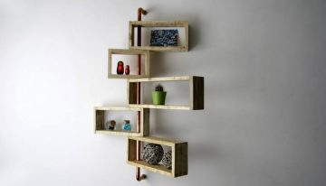 Recycled Pallet Moving Shelf