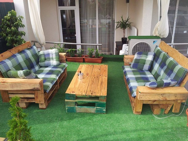 upcycled pallet outdoor furniture