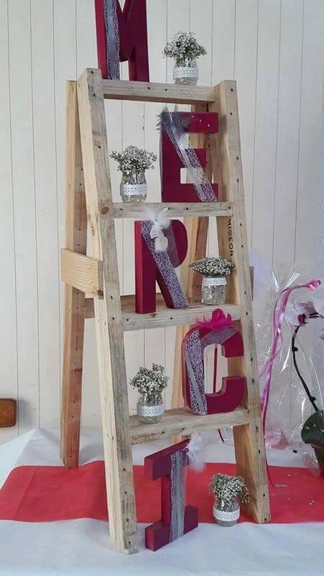 decor idea with pallets