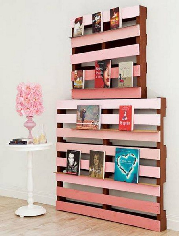 decor shelves with wood pallets