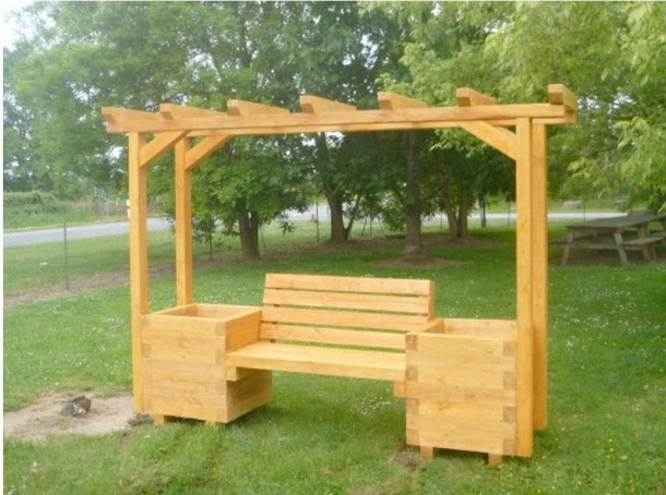 20 plans for recycled pallet furniture pallet ideas - Banc de jardin en bois de palette ...