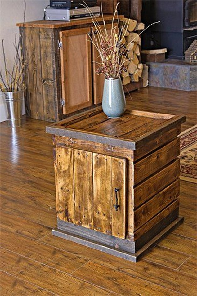 Very simple ideas to reuse wood pallets pallet ideas for End tables out of pallets