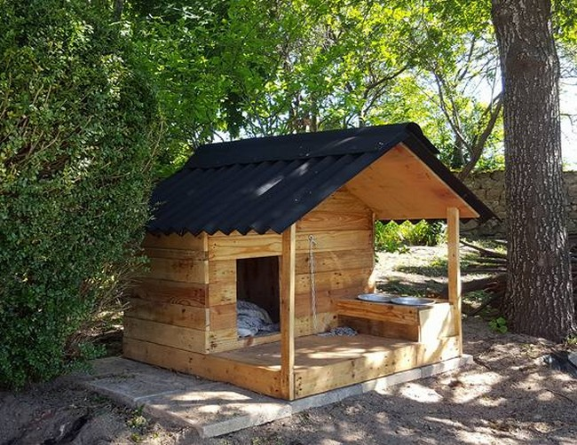 pallet patio dog house shed