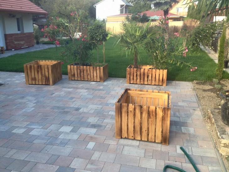 pallet wood planters