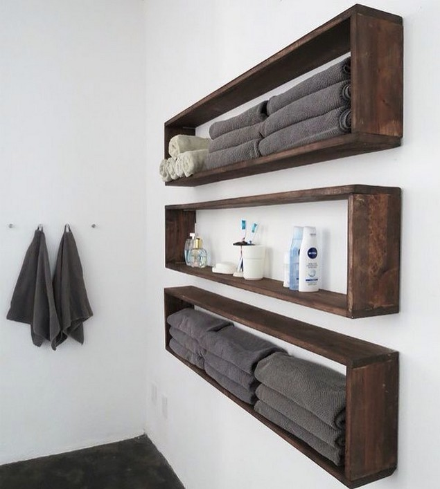 Simple Wooden Wall Shelves ~ Very simple ideas to reuse wood pallets pallet