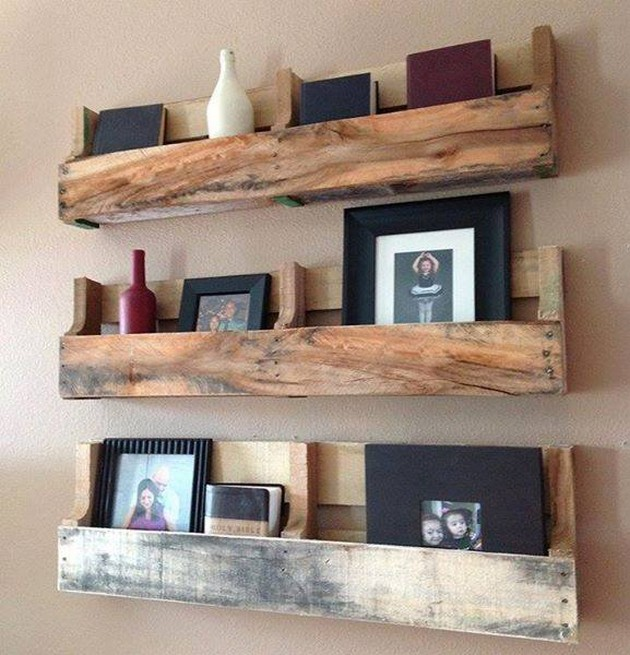 shelving with pallets