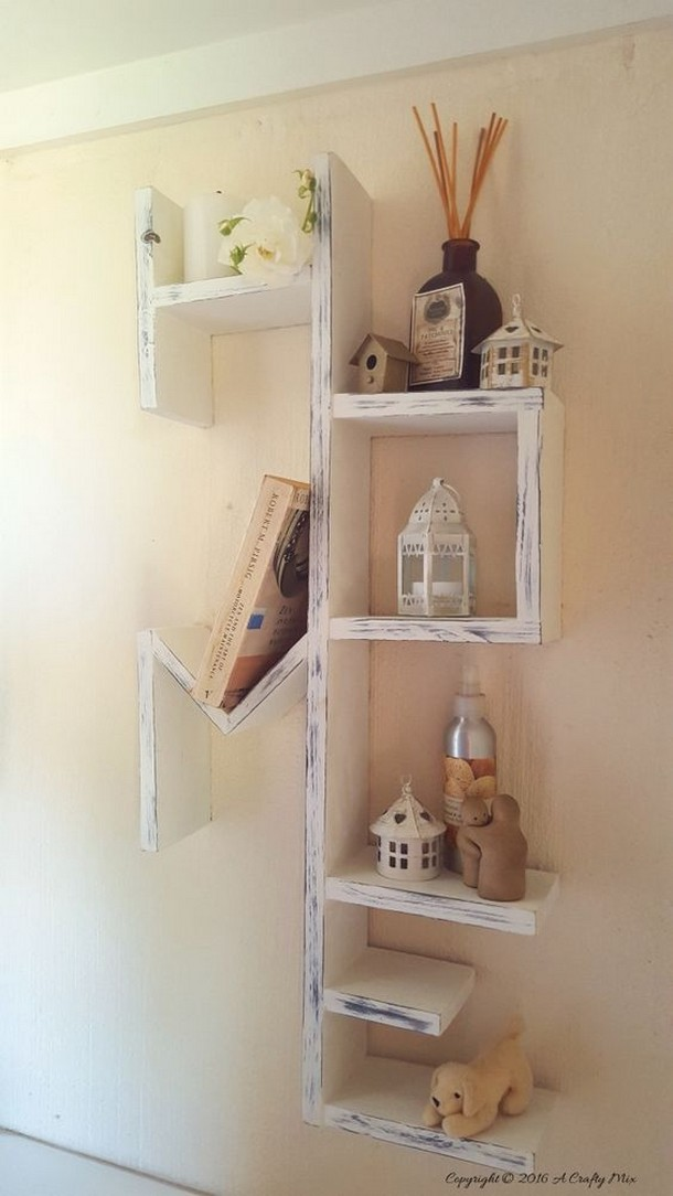 Wooden pallet shelving ideas pallet ideas recycled upcycled pallets furniture projects - Scrap wood decorated house ...