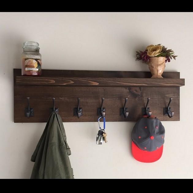 wood pallet coat and key hanger