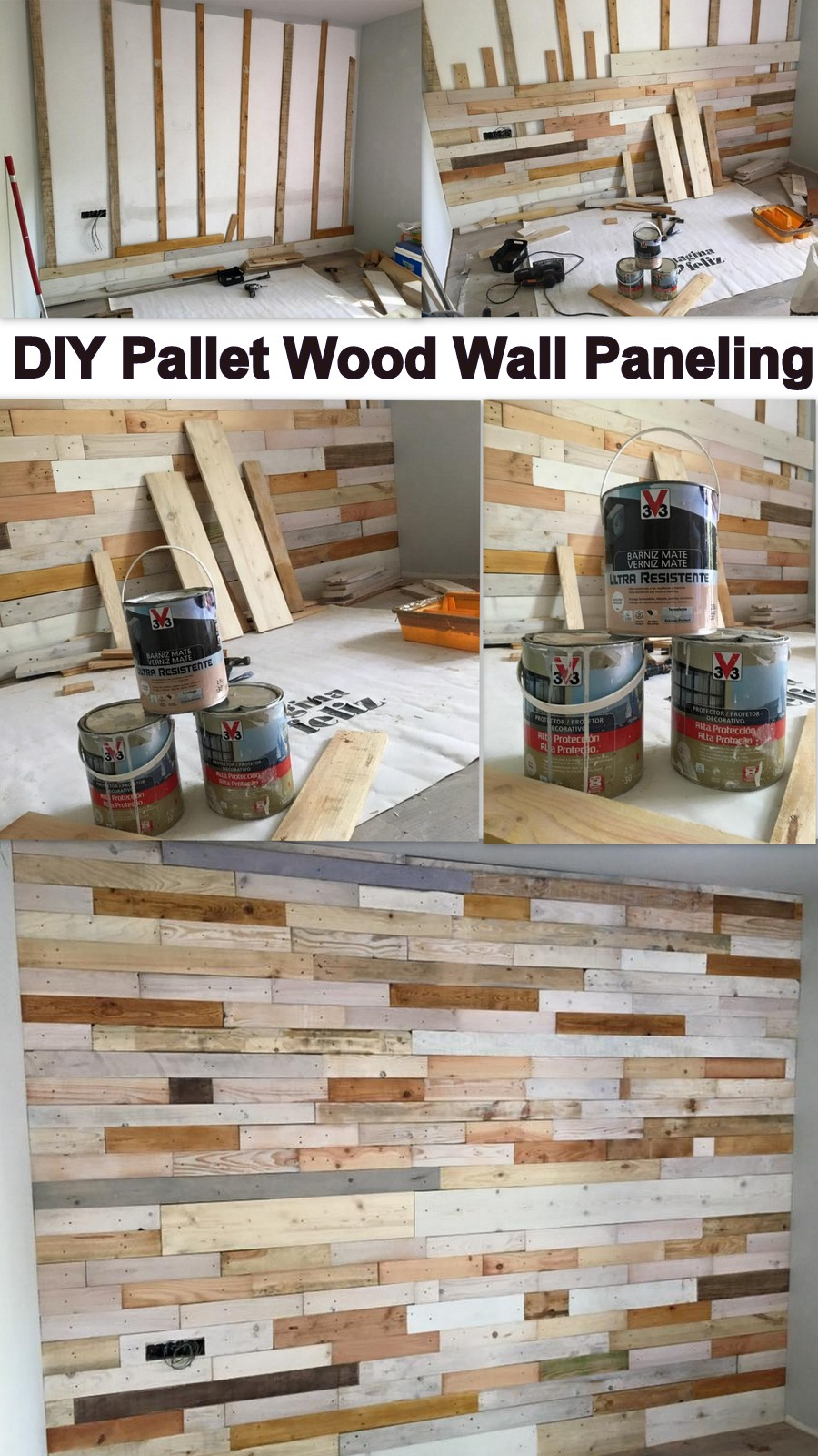 DIY Pallet Wood Wall Paneling